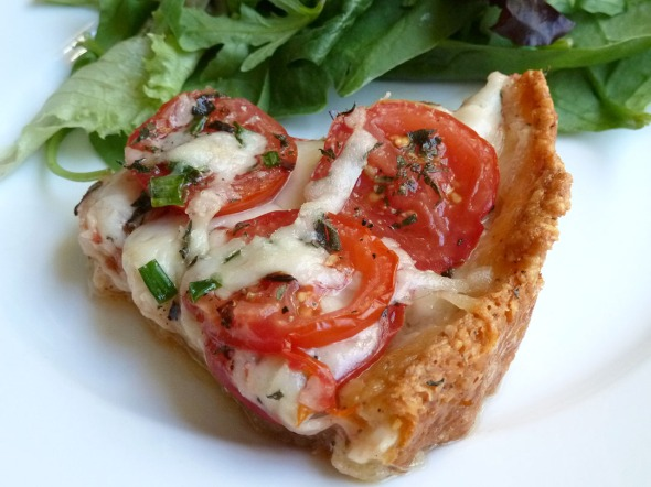 mozzarella & tomato tart slice