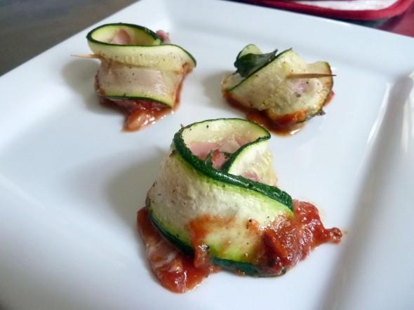 zucchini rollatini, plate